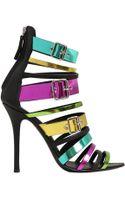 Giuseppe Zanotti 110mm Metallic Patent Leather Sandals - Lyst