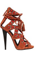 Giuseppe Zanotti 120mm Beaded Suede Sandals - Lyst