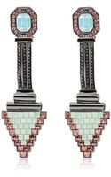Mawi Deco Glam Triangle Earrings - Lyst