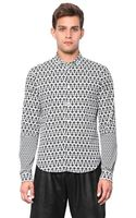 McQ by Alexander McQueen Cotton Poplin Cross Shirt - Lyst