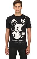 Philipp Plein Terrorist Monkey Cotton Jersey T-shirt - Lyst