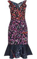 Preen By Thorton Bregazzi Morgan Sleveless Zip Flippy Dress - Lyst