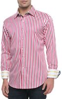 Robert Graham Balik Striped Shirt Whitefuchsia - Lyst