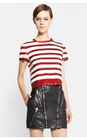 Saint Laurent Sequin Stripe Top - Lyst
