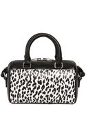 Saint Laurent Leopard Printed Leather Toy Duffle Bag - Lyst