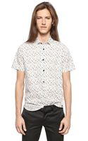 Saint Laurent Short Sleeved Cotton Poplin Shirt - Lyst