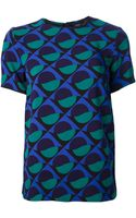 Marc By Marc Jacobs Patterned Tshirt - Lyst
