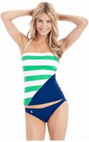 Ralph Lauren Blue Label Contrast Stripe Tubini Swim Top - Lyst