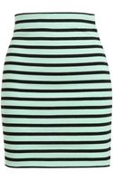 T By Alexander Wang Striped Stretch Cotton Miniskirt - Lyst