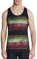 Cohesive & Co. Graphic Striped Cotton Tank - Lyst