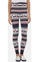 Topshop Reindeer Theme Knit Leggings - Lyst