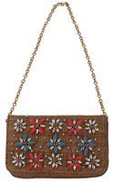 Dolce & Gabbana Straw Embroidered Shoulder Bag - Lyst