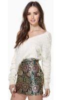 Nasty Gal Gilded Garden Jacquard Skirt - Lyst