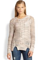 Cardigan Gabrielle Open Cable-knit Sweater - Lyst