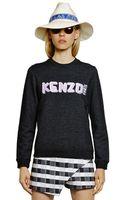 Kenzo Logo Cotton Fleece Sweatshirt - Lyst