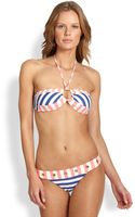Onda De Mar Swim Striped Halter Bandeau Bikini Top - Lyst