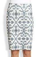 Peserico Printed Stretch Cotton Pencil Skirt - Lyst