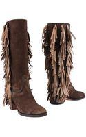 Santoni Highheeled Boots - Lyst