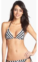 Becca Optical Illusion Chevron Triangle Bikini Top - Lyst