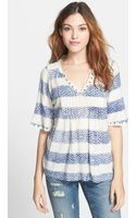 Lucky Brand Pintuck Pleat Top - Lyst