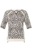 Marc By Marc Jacobs Sasha Leopard Sweater - Lyst