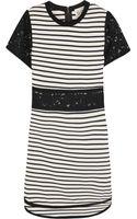 Sea Lace Paneled Striped Cotton Jersey Dress - Lyst