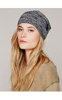 Free People Marled Leightweight Slouchy Beanie - Lyst