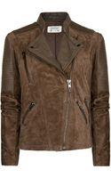 Mango Combi Leather Biker Jacket - Lyst