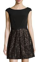 Laundry By Shelli Segal Sleeveless Sequined Cocktail Dress - Lyst