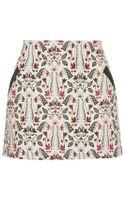 Topshop Tall Jacquard Pelmet Skirt - Lyst