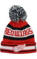 New Era Kids Detroit Red Wings Jacob Pom Knit Hat - Lyst