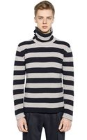 Antonio Marras Striped Wool Turtleneck Sweater - Lyst