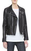 Victoria Beckham Joan Leather Biker Jacket - Lyst