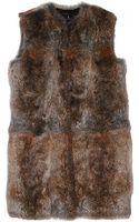 Jenni Kayne Long Natural Fur Vest - Lyst