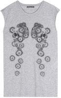 Alexander McQueen Printed Cotton Top - Lyst