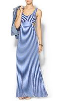 Ark & Co. Stripe Cut Out Maxi - Lyst