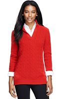 Brooks Brothers Cashmere Cable Tunic Sweater - Lyst