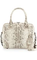 Alice + Olivia Olivia Snakeprint Satchel Bag Natural Alice Olivia - Lyst
