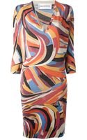 Emilio Pucci Vintage Fitted Dress - Lyst
