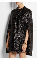Saint Laurent Sequined Silk Cape - Lyst