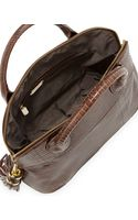 Ivanka Trump Snakeprint Dome Tote Bag Smokey Topaz - Lyst