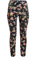 Erdem Cotton-blend Floral Print Trousers - Lyst