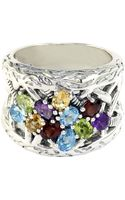 Effy Sterling Silver Multicolored Ring - Lyst