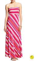 Banana Republic Factory Printed Maxi Tube Dress Warm Combo - Lyst