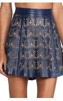 Parker Filomena Leather Skirt - Lyst