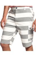Sean John Striped Twill Shorts - Lyst