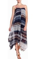 Twelfth Street by Cynthia Vincent Handkerchief Midi Dress - Lyst