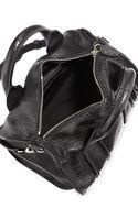 Alexander Wang Insideout Rocco Pebbled Leather Satchel Bag Black - Lyst