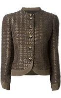 Giorgio Armani Vintage Knitted Jacket - Lyst