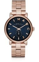 Marc By Marc Jacobs Baker Navy Blue Dial Womens Watch Wstainless Steel Strap - Lyst